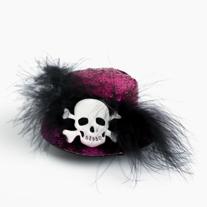 Карнавальный зажим «Шляпка», цвета МИКС