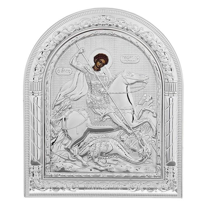 "Икона ""Георгий Победоносец"" на подставке"