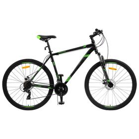 """Велосипед 29"""" Stels Navigator-900 MD F010, цвет чёрный/зелёный размер 21"""""""