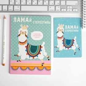 Набор обложка для паспорта и ежедневник 'Ламай стереотипы' Ош