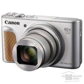 Фотоаппарат Canon PowerShot SX740HS, 21.1мп, 4K, 3', LCD, SDXC, SD, SDHC, WiFi, серебристый   479170 Ош