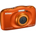 Фотоаппарат Nikon CoolPix W150, 13.2мп, 1080p, 21Мб, SDXC, CMOS, HDMI, WiFi, оранжевый