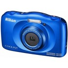 Фотоаппарат Nikon CoolPix W150, 13.2мп, 1080p, 21Мб, SDXC, CMOS, HDMI, WiFi, синий