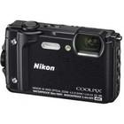 """Фотоаппарат Nikon CoolPix W300, 16мп, 4K, 3"""", 99Мб, SDXC, SD, SDHC, CMOS, WiFi, GPS, черный   479172"""