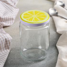 Банка для сыпучих продуктов «Фрутис лимон», 350 мл, 7,5×11 см