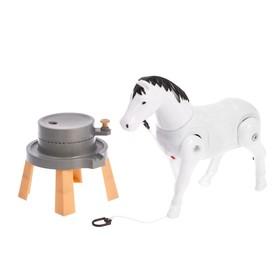 Развивающая игрушка «Лошадка», ходит по кругу, МИКС Ош