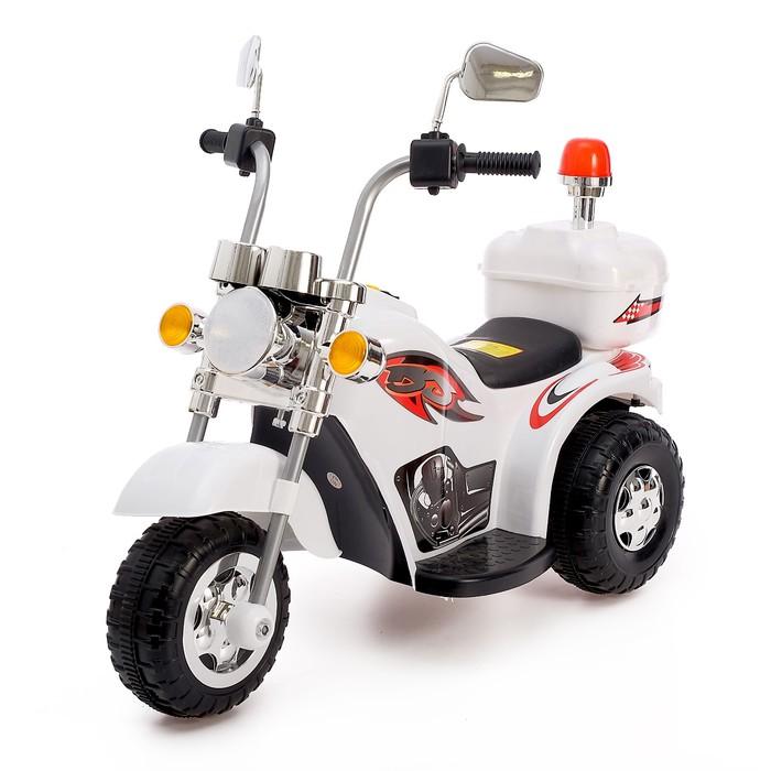 Детский электромобиль Чоппер, цвет белый