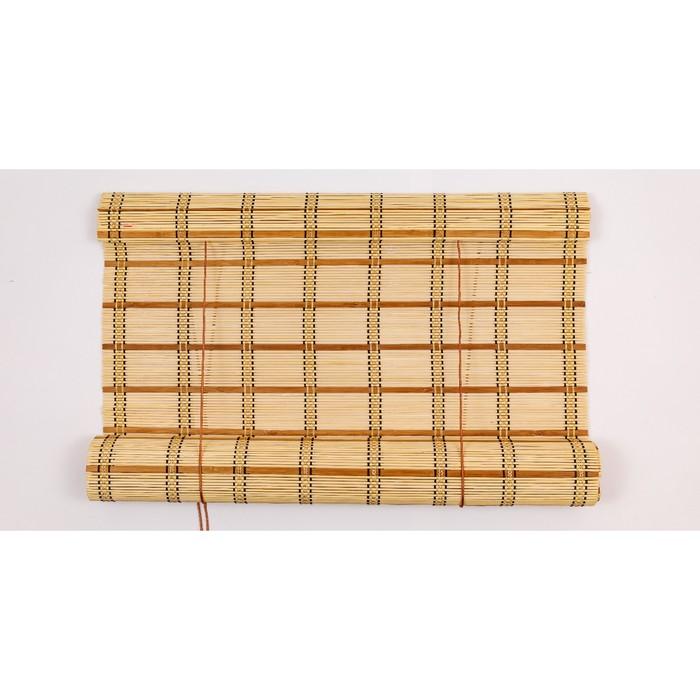 Бамбуковая рулонная штора, размеры 90×220 см