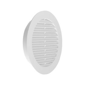 Решетка TDM, круглая, с москитной сеткой, с фланцем d=100 мм, внешняя d=135 мм, белая Ош