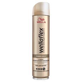 Лак для волос Wellaflex Classic, суперсильная фиксация, 250 мл