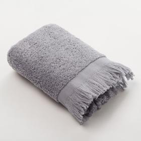 Полотенце махровое Love Life Fringe 50*90 серый,100% хлопок, 360 г/м2