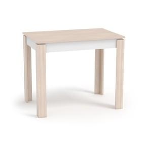 Стол обеденный Оптима,шимо светлый/белый Ош