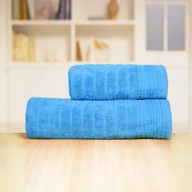 Полотенце «Бамбук», размер 33 х 70 см, синий, махра