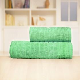 Полотенце «Бамбук», размер 50 х 90 см, зелёный, махра