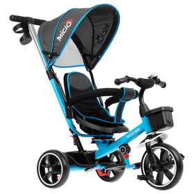 Велосипед трехколесный Micio Veloce, колеса EVA 10'/8', цвет голубой Ош