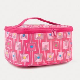 Косметичка-сумочка, отдел на молнии, с зеркалом, цвет малиновый Ош