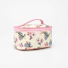 Косметичка-сумочка, отдел на молнии, с зеркалом, цвет бежевый Ош