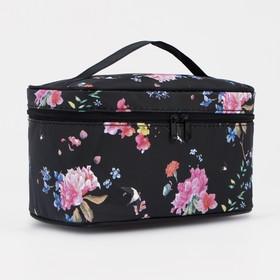 Косметичка-сумочка, отдел на молнии, с зеркалом, цвет чёрный Ош