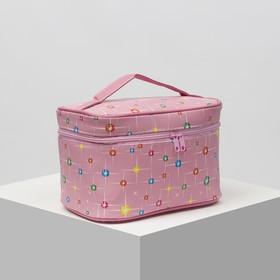 Косметичка-сумочка, отдел на молнии, с зеркалом, цвет розовый Ош