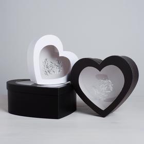 Набор коробок-сердец с PVC «Тебе от меня», 16 х 14 х 6 - 22 х 20 х 9 см