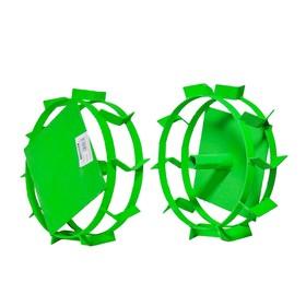 Грунтозацепы для окучивания Aurora 25778, 405х200 мм, 3 обруча, d оси 23 мм Ош