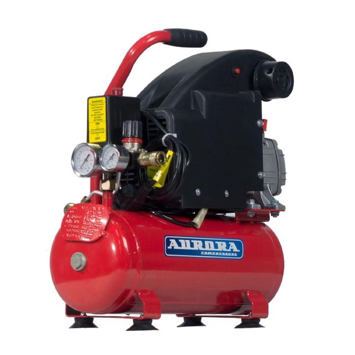 Компрессор Aurora BREEZE-8 8050, 220 В, 155 л/мин, 1.1 кВт, 8 бар, 8 л, поршневой, масляный