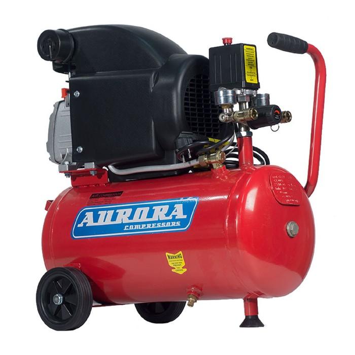 Компрессор Aurora AIR-25 6763, 220 В, 206 л/мин, 1.5 кВт, 8 бар, 24 л, поршневой, масляный