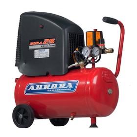 Компрессор Aurora BORA 25 14814, 220 В, 201 л/мин, 1.5 кВт, 24 л, поршневой, безмасляный