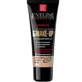 Тональный крем 3 в 1 Eveline Art Make-Up Prof, натуральный, 30 мл
