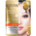 Тканевая маска для лица Eveline «Питательный золотой эликсир», восстанавливающая