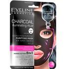 Тканевая маска для лица Eveline «Разглаживающий ритуал с углём», глубоко-очищающая