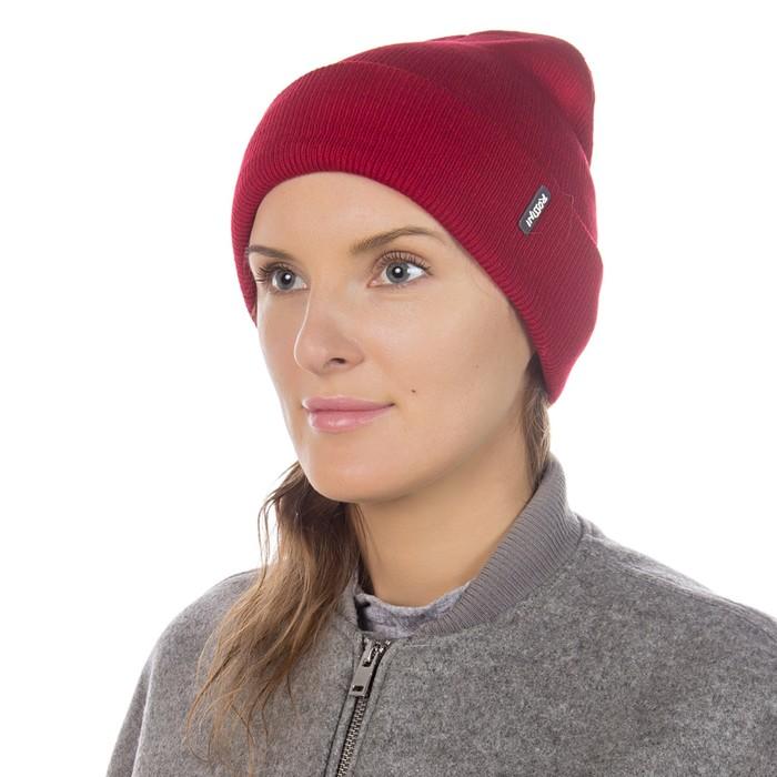 Шапка женская HB15063_3 цвет красный, р-р one size