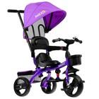 """Велосипед трехколесный Micio Gioia, колеса EVA 10""""/8"""", цвет фиолетовый - Фото 2"""