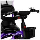 """Велосипед трехколесный Micio Gioia, колеса EVA 10""""/8"""", цвет фиолетовый - Фото 8"""