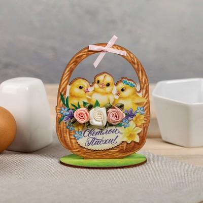 Настольное украшение «Цыплята», 8 × 10 см - Фото 1