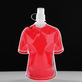 Фляжка 500 мл 'На футбол', с карабином, мягкая, пластик, 25х16 см, микс Ош
