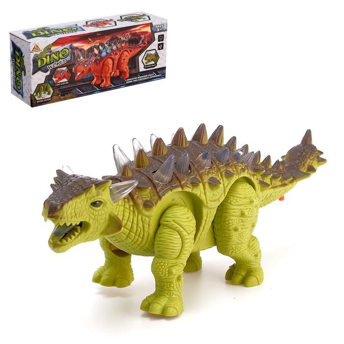 Динозавр «Анкилозавр» работает от батареек, световые и звуковые эффекты, МИКС