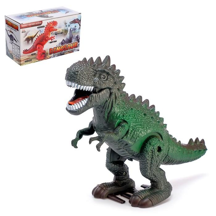 Динозавр «Рекс» работает от батареек, световые и звуковые эффекты, МИКС