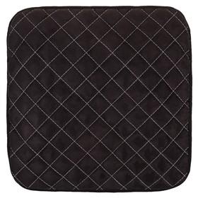 Накидка сиденья алькантара без спинки Skyway EXPENSIV черная, строчка белая Ош