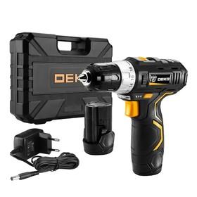 Дрель аккумуляторная Deko GCD12DU3 SET3 063-4097, 12 В, 1.5 Нм, 2 АКБ, биты, сверла, кейс