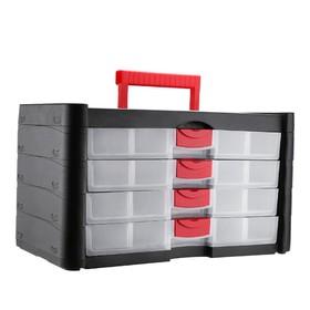 Кейс для инструментов DEKO DKTB2 065-0807, 4 секции, пластик