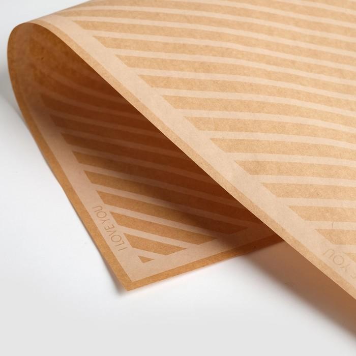 Бумага крафт двухсторонняя Белые линии, 50 х 70 см