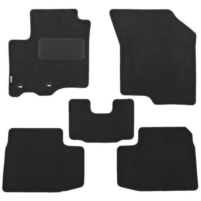 Коврики в салон Hyundai Veloster АКПП 2012-, куп., 5 шт. текстиль, бежевые