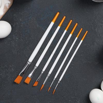 Набор кондитерских кисточек для декорирования Доляна «Ларсон», 6 шт - Фото 1