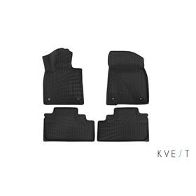 Коврики KVEST 3D в салон Lexus RX, 2015->, 4 шт. (полистар, серый, серый)