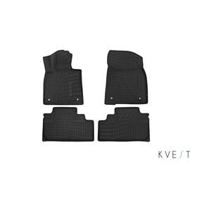 Коврики KVEST 3D в салон Lexus RX, 2015->, 4 шт. (полистар, серый, черный)