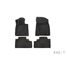 Коврики KVEST 3D в салон Lexus RX, 2015->, 4 шт. (полистар, черный, бежевый)