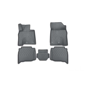 Коврики KVEST 3D в салон Toyota Camry, 2011-2017, XV50, 5 шт. (полистар, бежевый, черный)