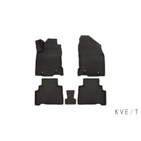 Коврики KVEST 3D в салон Lexus NX, 2014->, 5 шт. (полистар черный/бежевый)
