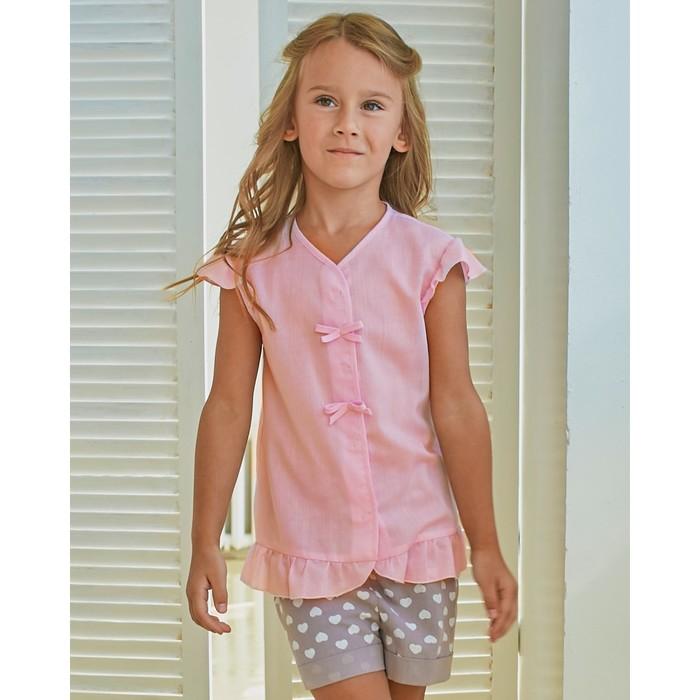 Блузка для девочки MINAKU Cotton collection: Romantic, цвет розовый, рост 104 см